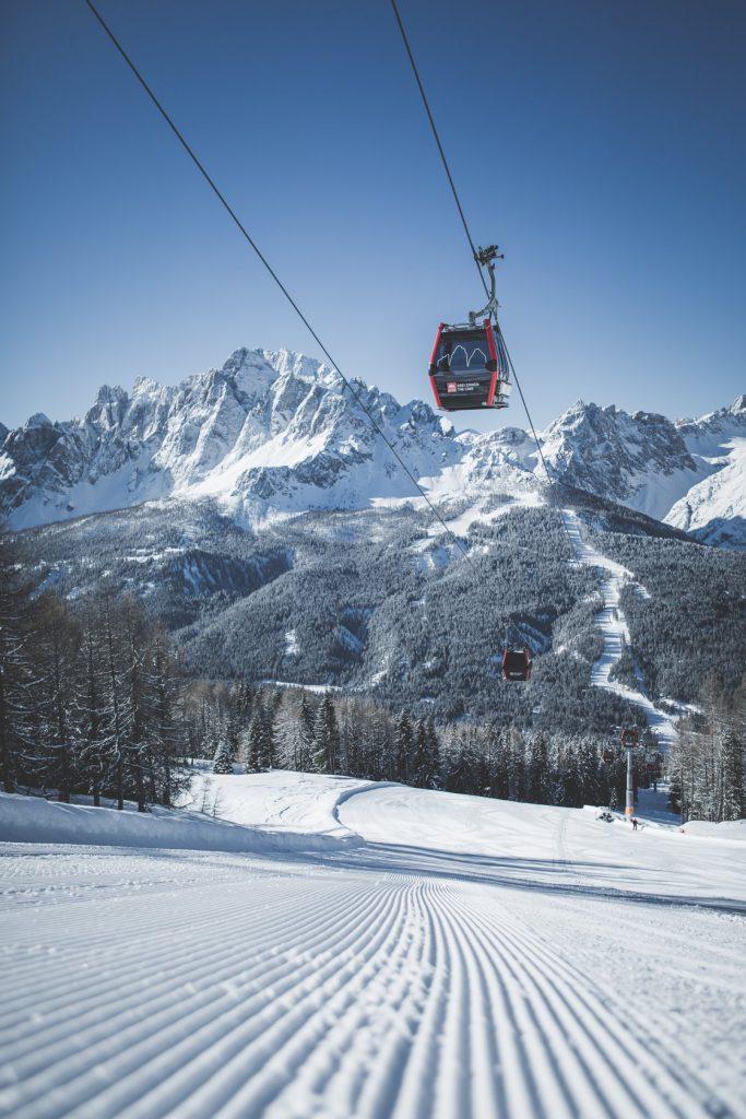 Gondelbahn Skigebiet 3 Zinnen