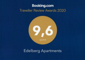 Traveller Review Award 2020 | Edelberg Apartments
